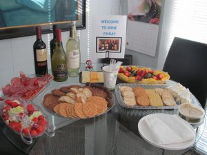 Check Out Our Yummy Wine Friday Spread!