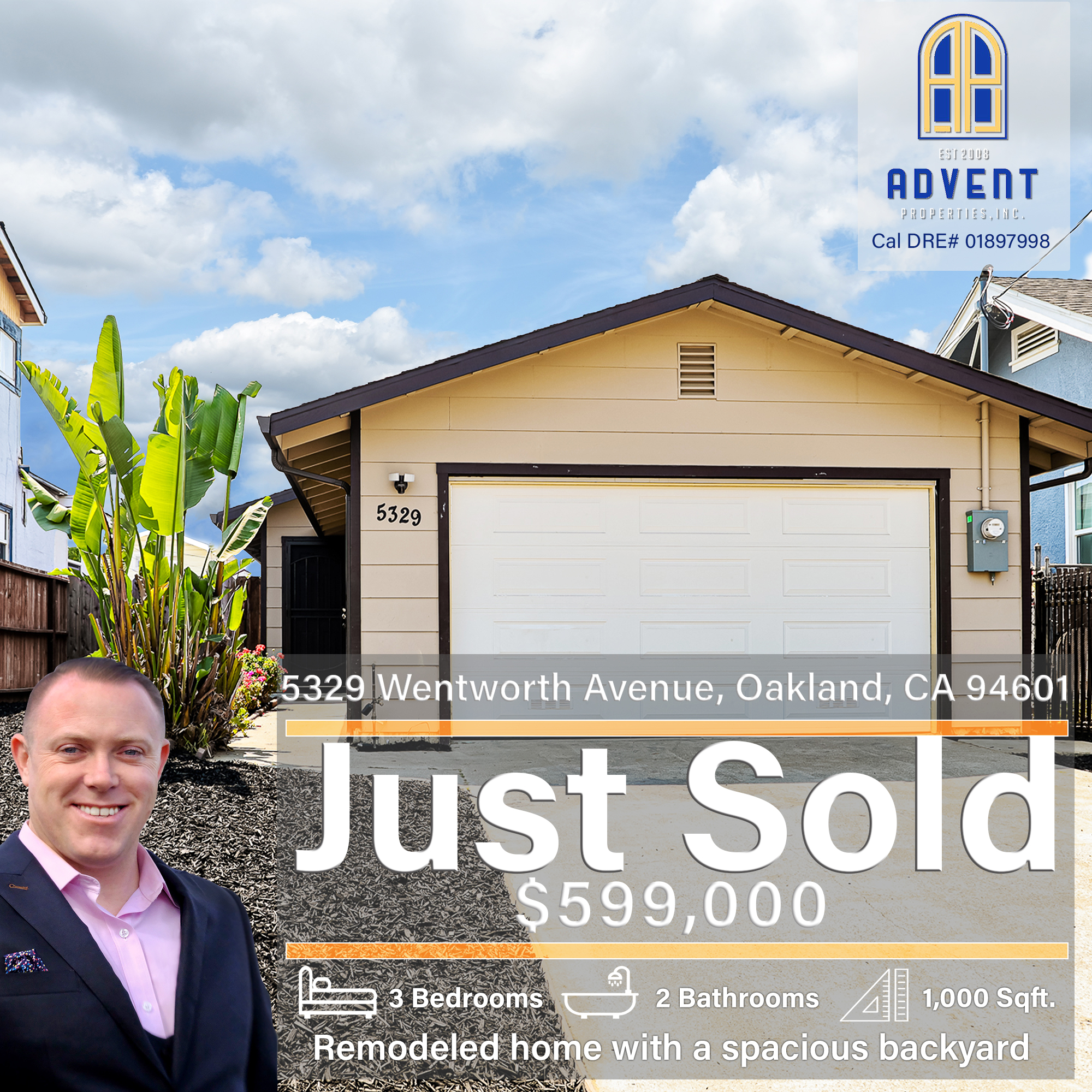 Just Sold by Darryl Glass: 5329 Wentworth Avenue, Oakland, CA 94601