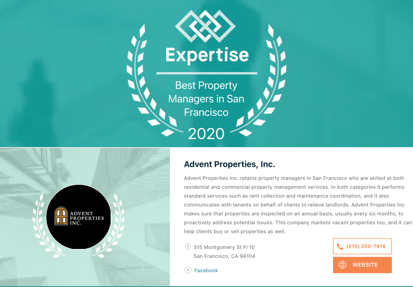 Expertise.com's 2020 Best Property Managers in San Francisco