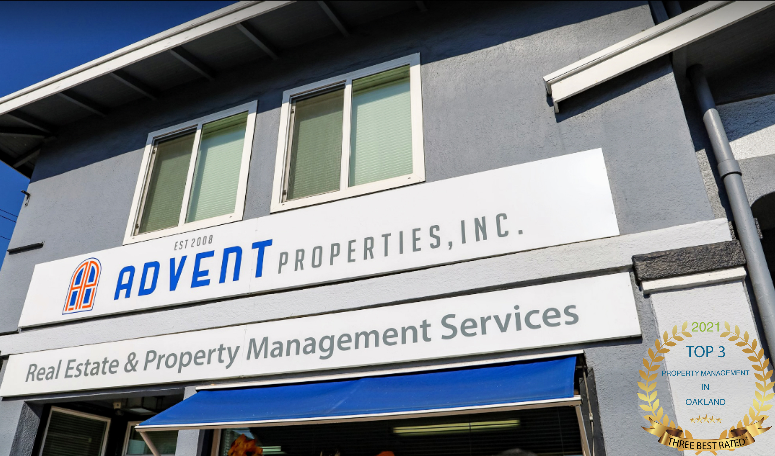 Top 3 Best Property Management in Oakland Awarded to Advent Properties, Inc.
