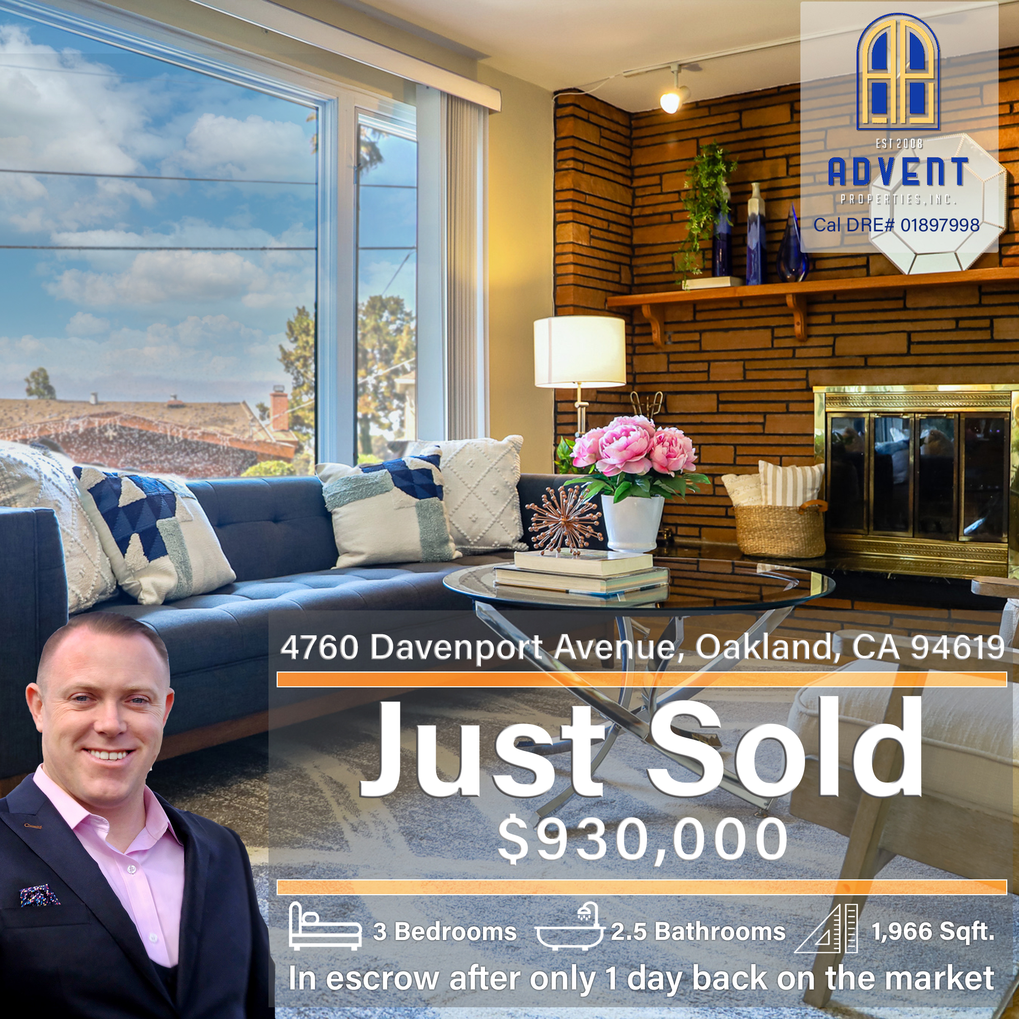 Just Sold by Darryl Glass: 4760 Davenport Avenue, Oakland CA, 94619